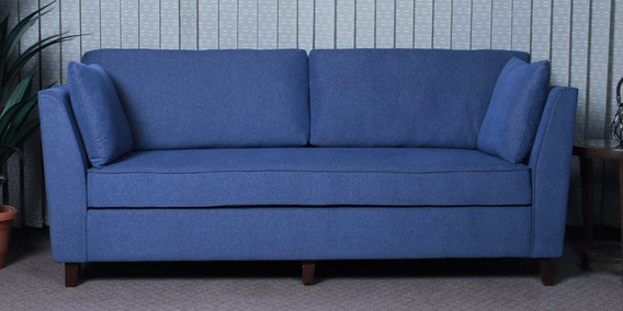 Miranda Three Seater Sofa in Denim Blue Colour by CasaCraft