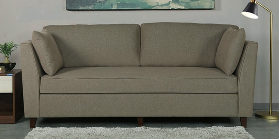 Miranda Three Seater Sofa in Sandy Brown Colour by CasaCraft