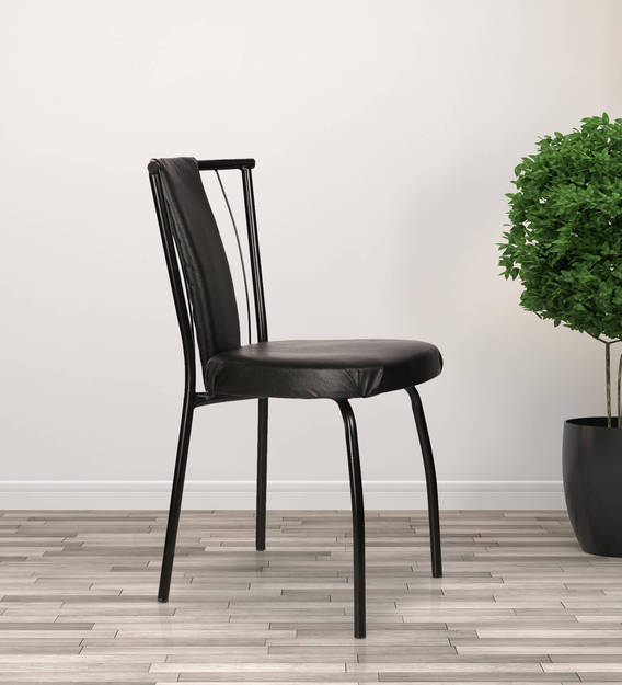 Buy Milano Dining Chair In Black Colour By Furniease Online Uphlostered Side Dining Chairs Dining Furniture Pepperfry Product
