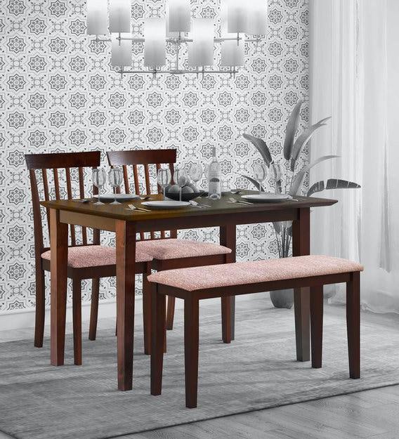 Buy Miso 4 Seater Dining Set With Bench In Dark Cappuccino Finish By Mintwud Online Modern 4 Seater Dining Sets Dining Furniture Pepperfry Product