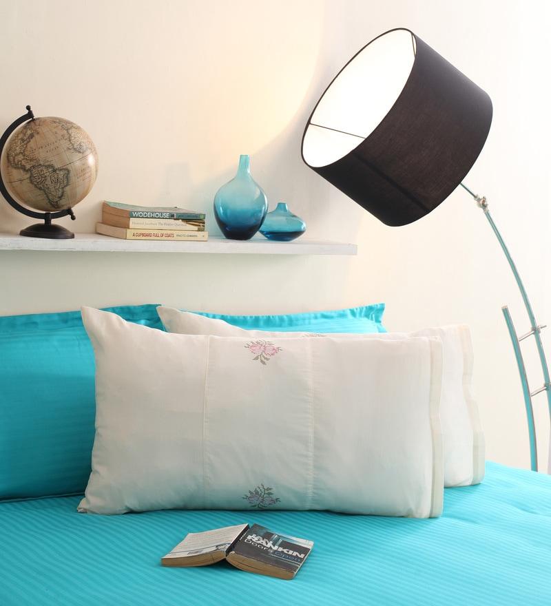 Milano Home Cream Cotton 19 x 30 Pillow Cover - Set of 2