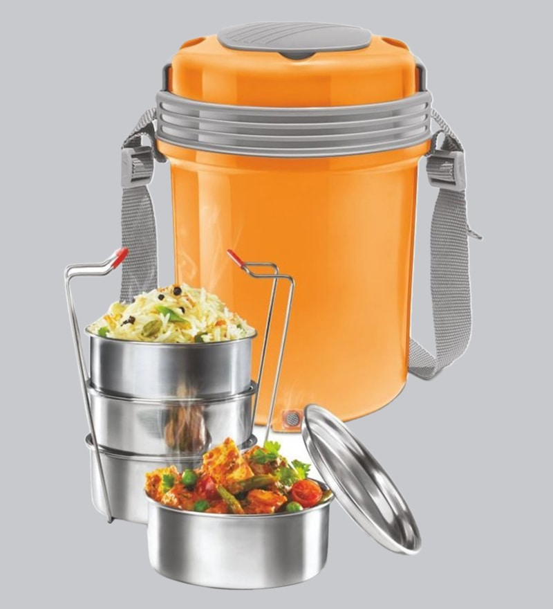 e1d81658c54 Buy Milton Electron 4 Electric Stainless Steel Orange Lunch Pack ...