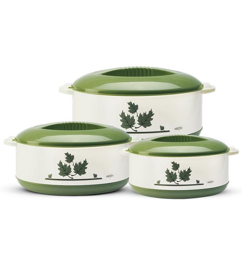 Milton Orchid Junior Green Casseroles - Set of 3