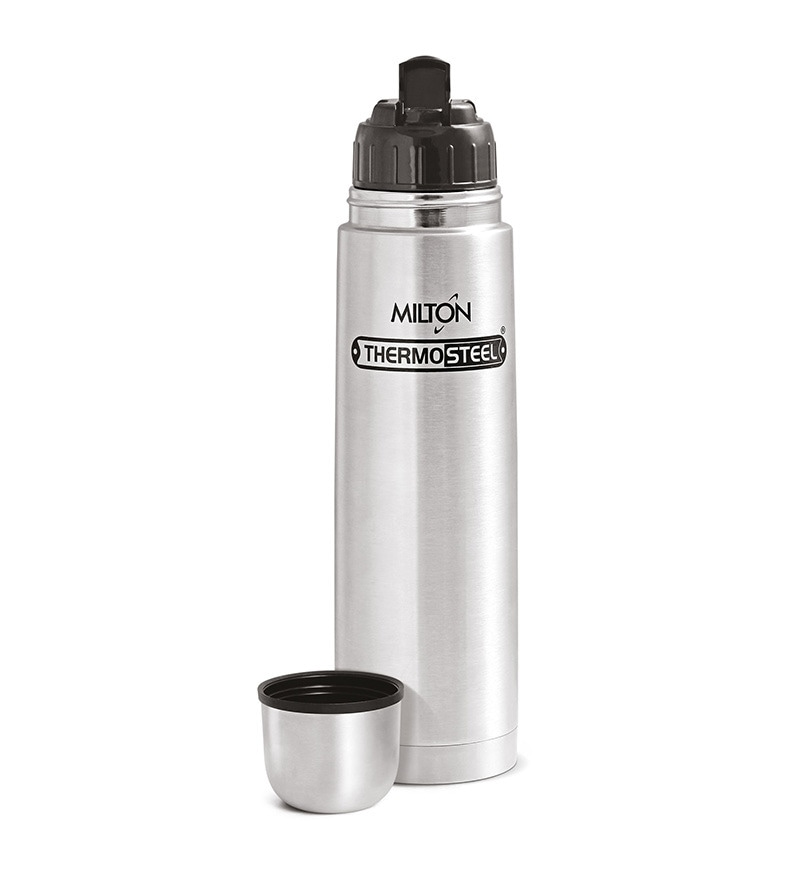 Milton Thermosteel Silver Stainless Steel 1 L Flask