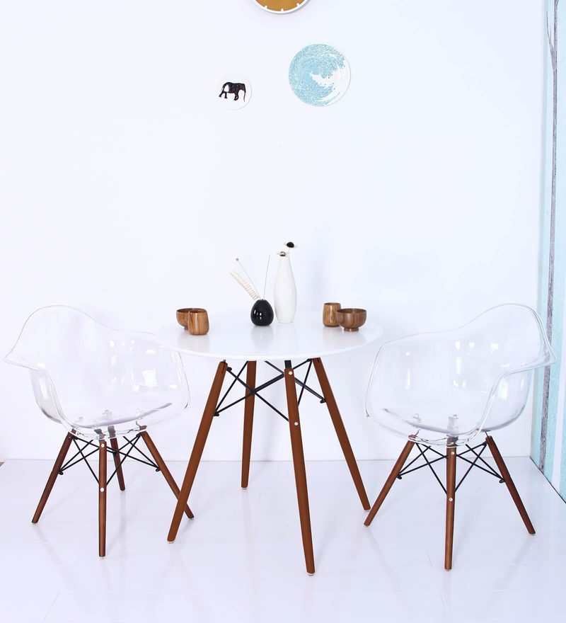 Mineko Accent DSW Eames Replica Plastic Chair (Set of 2) in Clear Colour by Mintwud