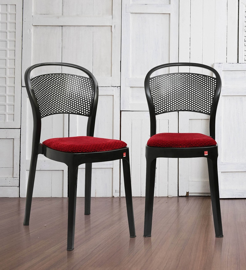 Buy Miracle Delux Chair Set Of 2 In Black Color By Cello