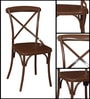 Alva Metal Chair in Coffee Brown Color by Bohemiana
