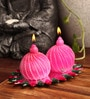 Pink Bead Ball Candle Set by Candles N Beyond