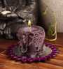 Candles N Beyond  Purple Elephant Candle
