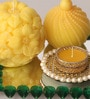 Yellow Candle Set by Candles N Beyond