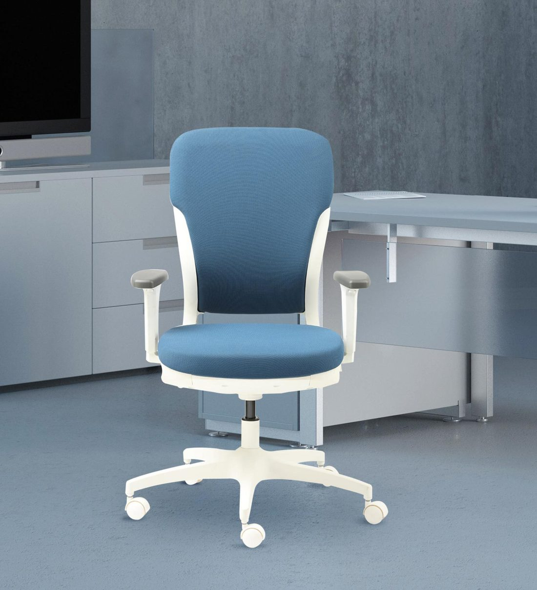 Picture of: Buy Motion Ergonomic Chair In Blue White Color By Godrej Interio Online High Back Ergonomic Chairs Chairs Furniture Pepperfry Product