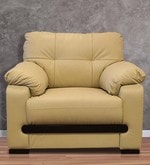 Mobil One Seater Sofa in Beige Colour