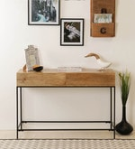 Modular Console Table in Natural Finish