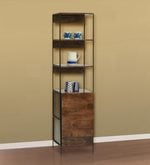 Modular Display Unit cum Bookshelf in Walnut Finish