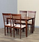 Moe Four Seater Dining Set in Walnut Finish