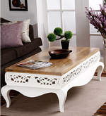 Mong Coffee Table in Natural & White Finish