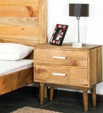 Montana Bed Side Table in Natural Finish