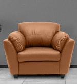 Montero One Seater Sofa in Dark Almond Colour