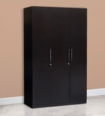Mozart Three Door Wardrobe in Wenge Colour