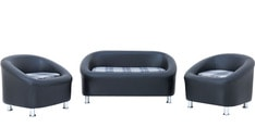 Nelson Sofa set (2 + 1 + 1) in Black Colour