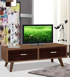 Mokuzai Entertainment Unit With Two Drawers In Oak Finish