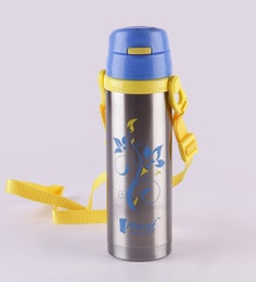 Monet Trendy Yellow And Blue Stainless Steel 500 ML Sipper Bottle