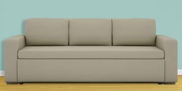 Morris Three Seater Sofa Cum Bed In Beige Colour