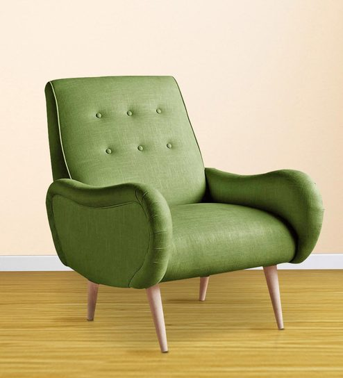 Incredible Attic Modern Lounge Chair In Green Colour By Afydecor Spiritservingveterans Wood Chair Design Ideas Spiritservingveteransorg