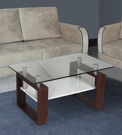 Buy Modern Glass Top Center Table In Brown By White House Furniture