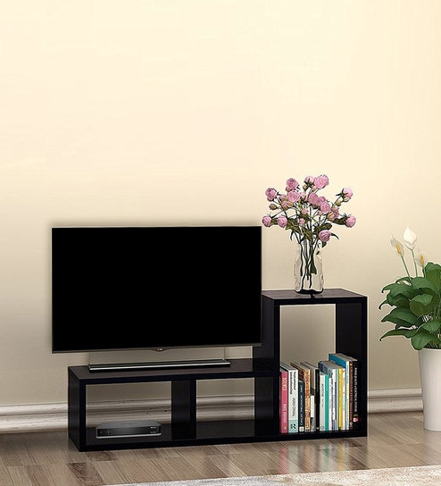 Buy Modern TV Unit in Matte Brown Finish by Klaxon Online - Modern ...