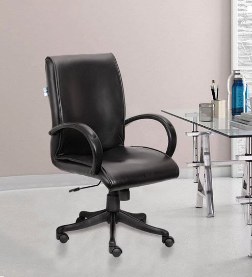 Incredible Modern Leatherette Mid Back Chair By Vj Interior Machost Co Dining Chair Design Ideas Machostcouk