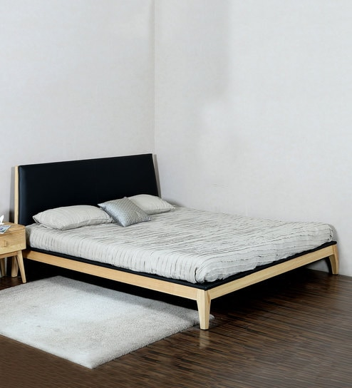 Modern Platform King Size Bed In Black By Asanjo Furniture World Online Sized Beds Pepperfry Product