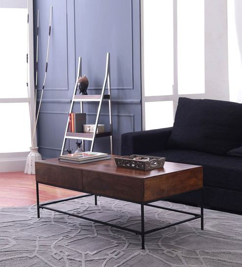 Buy Modular Coffee Table in Walnut Finish by The ArmChair Online ...