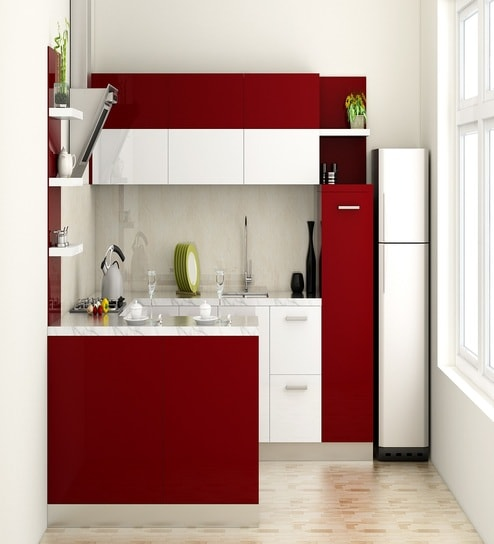 Buy Modular Kitchen In Burgundy By Rawat Online