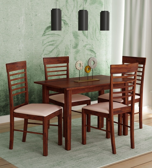 Fantastic Moe 4 Seater Dining Set In Walnut Finish By Mintwud Caraccident5 Cool Chair Designs And Ideas Caraccident5Info
