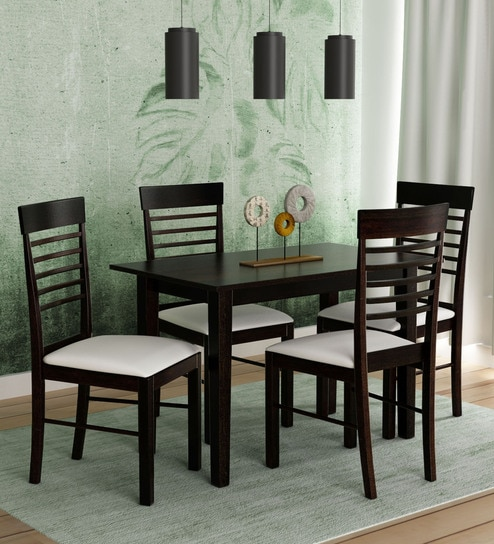 Moe 4 Seater Dining Set In Wenge Finish