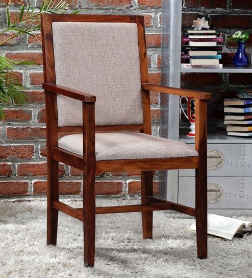 Peshtigo Solid Wood Arm Chair In Honey Oak Finish By Woodsworth