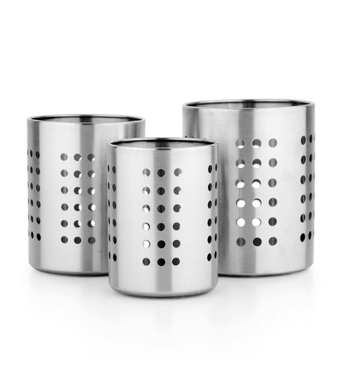 Mosaic Para Stainless Steel Cutlery Holder Set Of 3