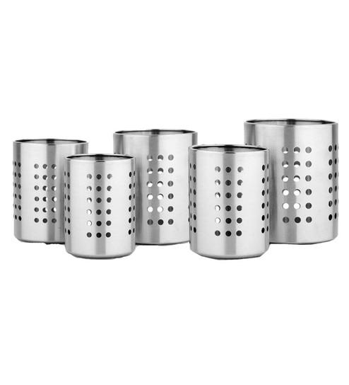 Mosaic Stainless Steel Cutlery Holders Set Of 5