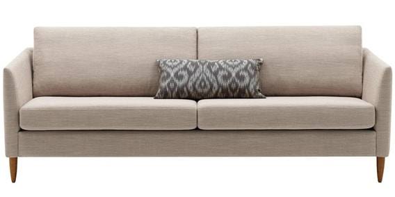 Modern Two Seater Sofa With A Sleek And Mod Look In Beige Colour By Afydecor