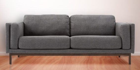 Modern Two Seater Sofa With Track Styled Arms Grey By Afydecor