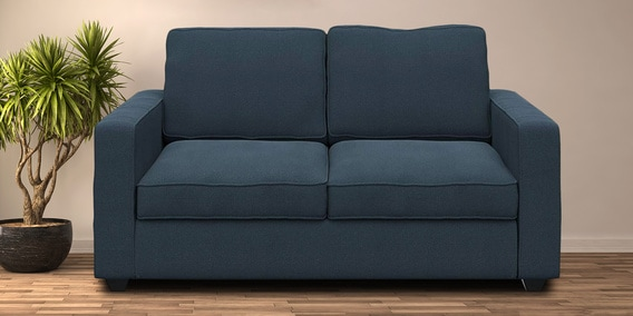 Montreal Two Seater Sectional Sofa in Blue Colour by Forzza
