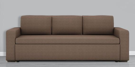Morris 3 Seater Sofa Bed In, Brown Cloth Sofa Bed