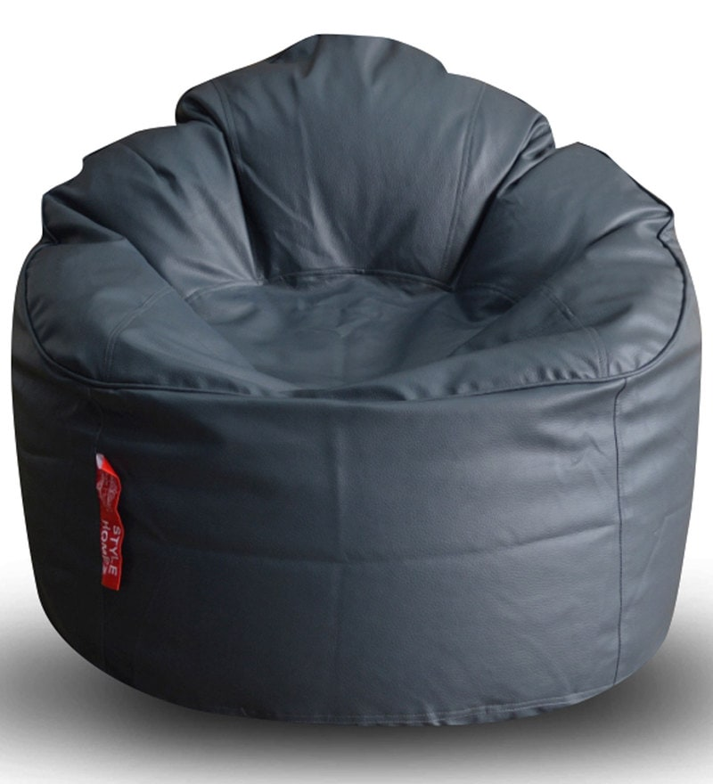 Modern Mooda Rocker XXXL Bean Bag with Beans in Grey Colour by Style HomeZ