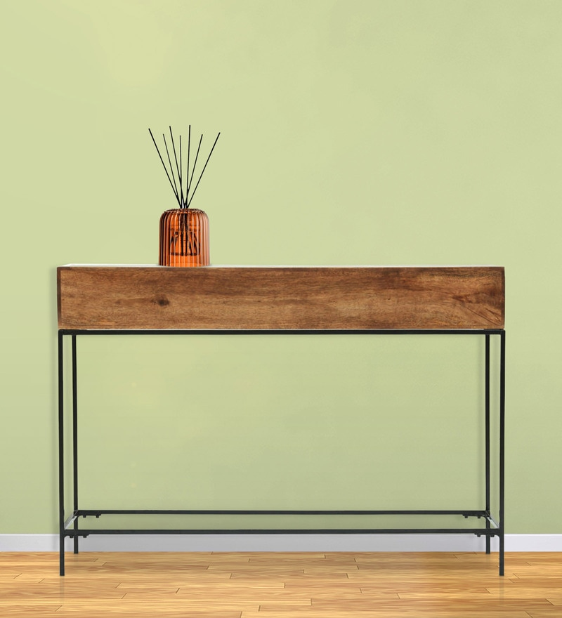 Modular Console Table in Walnut Finish by The ArmChair