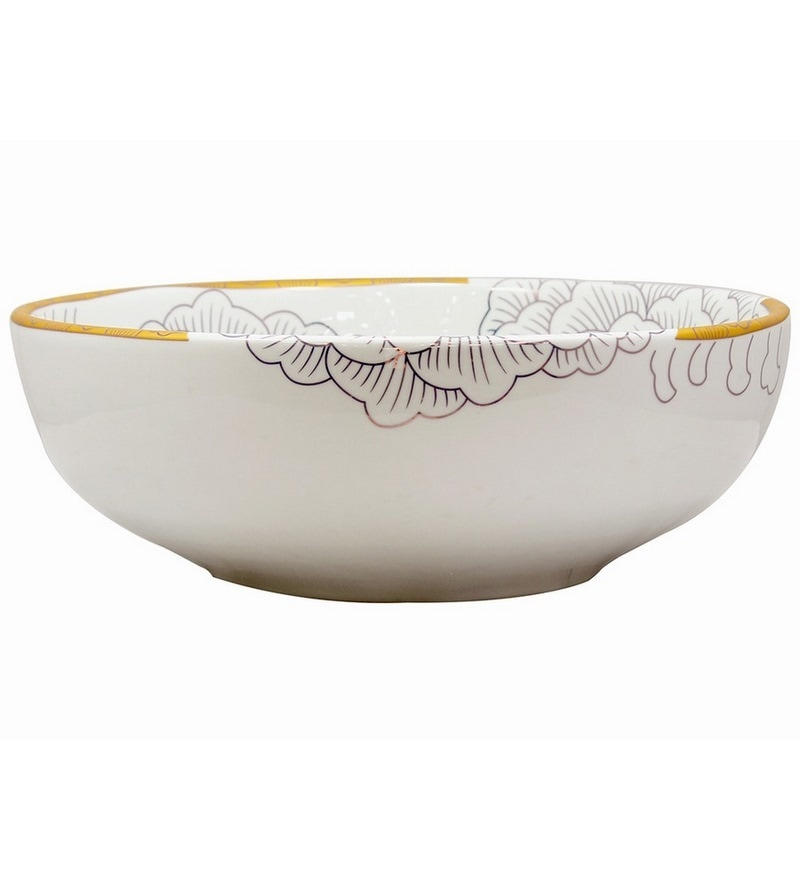 MonTero White Ceramic Basin