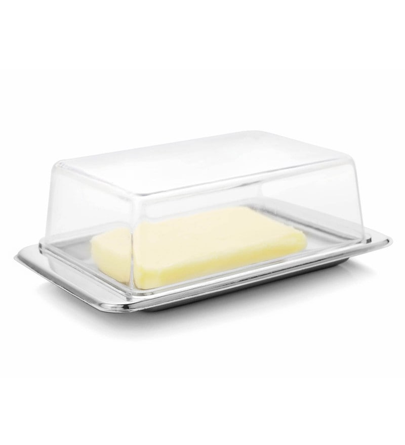 Mosaic Stainless Steel Small Cover Butter Dish