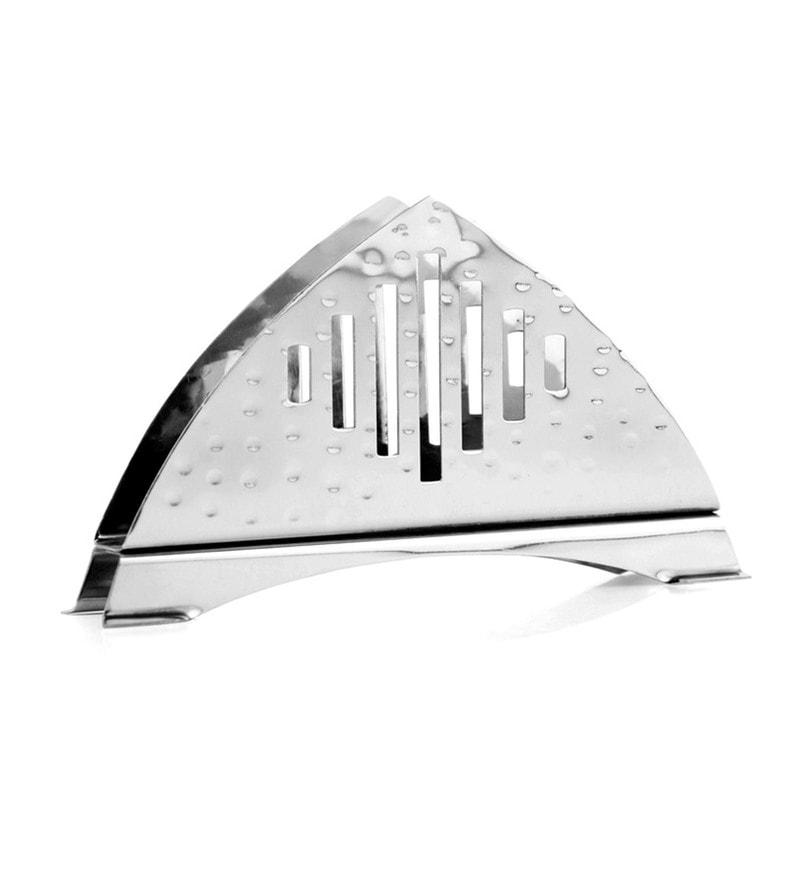 Mosaic Straight Hammered Stainless Steel Napkin Holder