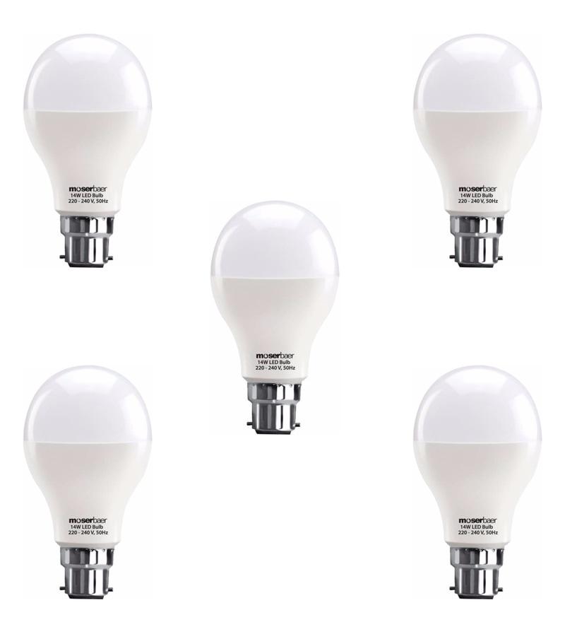 Moserbear Cool White 14W LED Bulbs - Set of 5