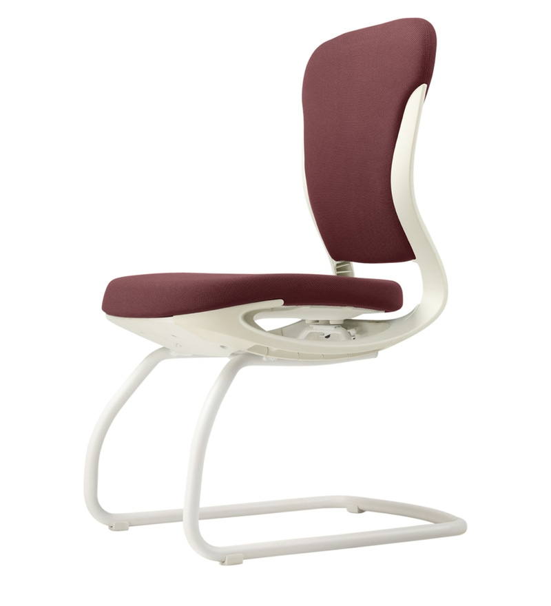Buy Motion Visitor Chair In Burnt Russet White Color By Godrej